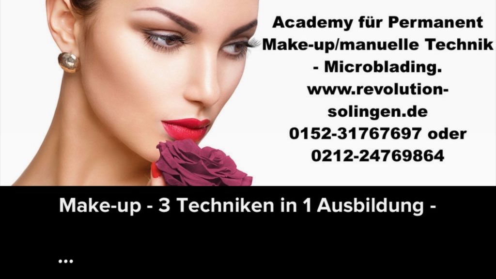 Permanent Make-up – Microblading-Schulung - 2 Techniken in 1 Ausbildung